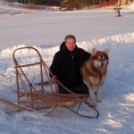 Randy kuma and our Frank hall sled