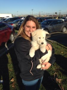 kayla and Koy at the airport
